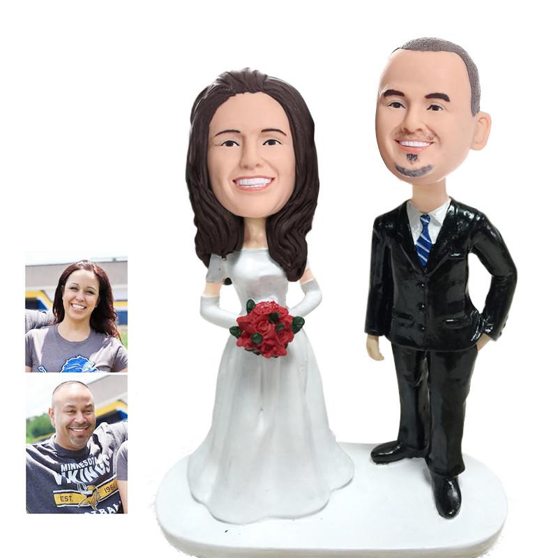 figurine de gteau de mariage personnalise wcx0006 - Figurine Mariage Personnalise