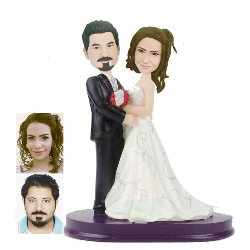 figurine de gteau de mariage personnalise wcx0009 - Figurine Gateau Mariage Personnalis