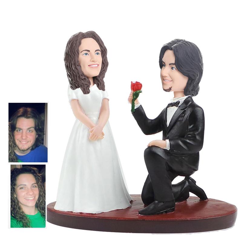 figurine de gteau de mariage personnalise wcx0011 - Figurine Gateau Mariage Personnalis